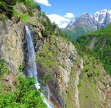 """Северная Осетия-Алания. Дигорское ущелье. Скалолазные маршруты. Массив """"Рыжая скала"""", """"Нижние скалы"""""""