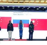 Екатерина Осичкина на пьедестале Кубка мира по ски-альпинизму